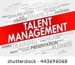 talent management word cloud... | Shutterstock .eps vector #443696068