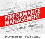 performance management word... | Shutterstock .eps vector #443696080