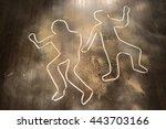 Crime Scene Chalk Outline Of A...