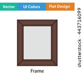 picture frame icon. flat color...