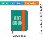 sketch book icon. flat color...