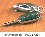 car key with a car shaped... | Shutterstock . vector #443717284