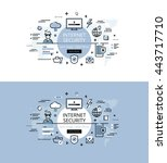 set of modern vector...   Shutterstock .eps vector #443717710