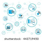 analytics data icons and... | Shutterstock .eps vector #443719450