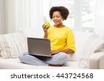 people  technology and leisure... | Shutterstock . vector #443724568