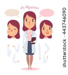 medical staff character. young... | Shutterstock .eps vector #443746090