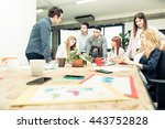 start up team at work on a new... | Shutterstock . vector #443752828