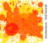 vibrant bright orange... | Shutterstock . vector #443760130