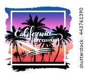 vector print california... | Shutterstock .eps vector #443761390