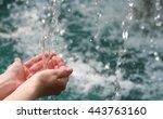 drinking water   natural water... | Shutterstock . vector #443763160