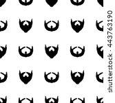 beard silhouette seamless... | Shutterstock . vector #443763190