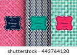 elegant seamless pattern set.... | Shutterstock .eps vector #443764120