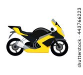 cool motorcycle isolated on... | Shutterstock . vector #443766223