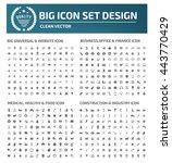 big icon set website icon... | Shutterstock .eps vector #443770429