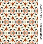 pattern  seamless  tracery ... | Shutterstock .eps vector #443773390