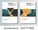 leaflet brochure flyer template ...   Shutterstock .eps vector #443777884