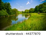 Summer Landscape With River An...