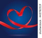 illustration of looping ribbon....   Shutterstock .eps vector #443782519
