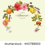 Vector Natural Round Frame Wit...