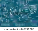 mechanical engineering drawings ... | Shutterstock .eps vector #443792608