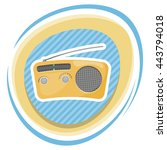 radio colorful icon. vector...