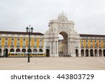 commerce square  lisbon ... | Shutterstock . vector #443803729