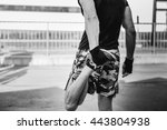 young sporty man boxer... | Shutterstock . vector #443804938
