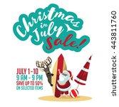 christmas in july sale... | Shutterstock .eps vector #443811760
