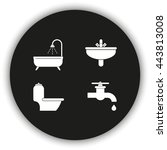 icon of bathroom equipment. | Shutterstock .eps vector #443813008