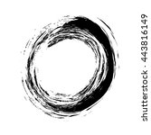 grunge vintage circle shape... | Shutterstock .eps vector #443816149