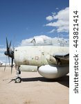 Small photo of Tucson, USA - April 25, 2016: Fairey Gannet AEW.3 in the Pima Air & Space Museum. It was an anti-submarine warfare aircraft intended to be used in the airborne early warning role on aircraft carriers.