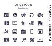 media icons. | Shutterstock .eps vector #443825983