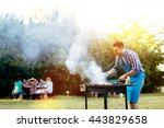 Barbecue In Nature Being Done...