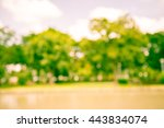 abstract blur city park bokeh... | Shutterstock . vector #443834074