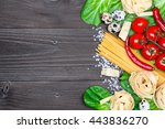 italian food background on... | Shutterstock . vector #443836270