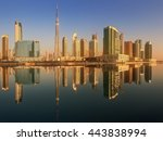 panoramic view of business bay... | Shutterstock . vector #443838994
