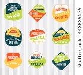 vintage labels set for commerce ... | Shutterstock .eps vector #443839579