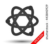 atom icon. simple flat logo of... | Shutterstock .eps vector #443840929