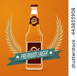 beer bottle icon. drink and... | Shutterstock .eps vector #443855908