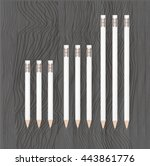 pencils  | Shutterstock .eps vector #443861776