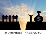 inequality and social class.... | Shutterstock . vector #443872750