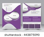 abstract flyer design... | Shutterstock .eps vector #443875090
