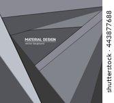 vector material design... | Shutterstock .eps vector #443877688