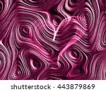 purple heart lovely grunge... | Shutterstock . vector #443879869