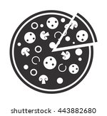 pizza icon on white background. ... | Shutterstock .eps vector #443882680
