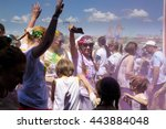 editorial photograph. color run
