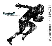 football player silhouette.... | Shutterstock .eps vector #443891794