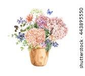 Summer Vintage Floral Greeting...