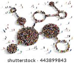 large and diverse group of... | Shutterstock . vector #443899843