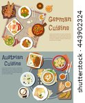german and austrian cuisine.... | Shutterstock .eps vector #443902324